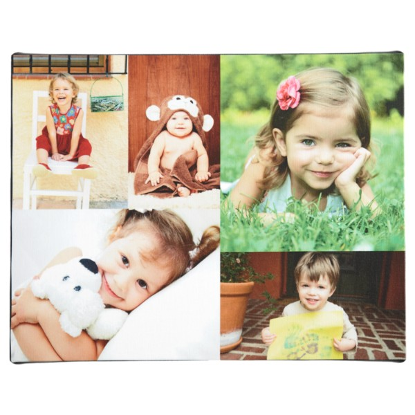 Personalized Unframed Photo Collage Canvas Wall Art - 11 x 14 - Color
