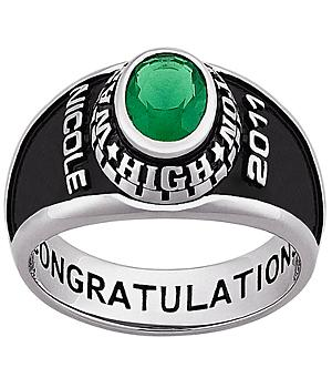 Ladies Celebrium Birthstone Class Ring