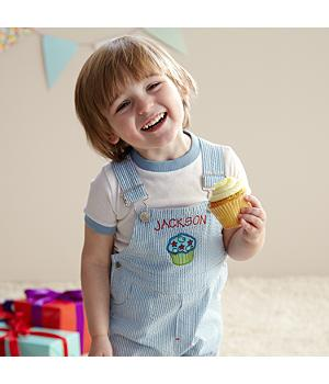 Cupcake Party Overalls