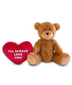 Personalized Giant Teddy Bear with Red Heart