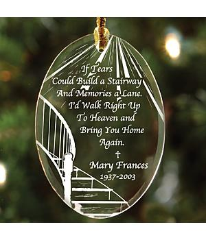 Personalized Memorial Suncatcher Ornament - Oval