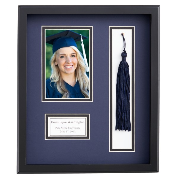 Personalized Graduation Tassel Frame - Navy B ...