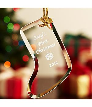 Etched Glass Ornaments