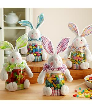 Personalized Plush Bunny Treat Jars