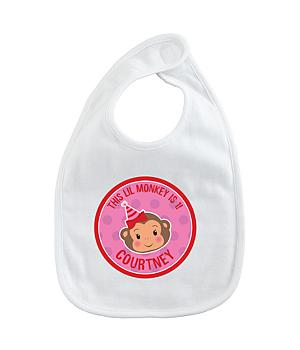 Birthday Bib - Party Monkey Girl