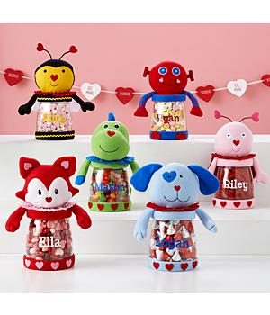 Plush Valentine Treat Jar