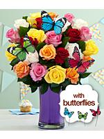 Birthday Butterfly Roses
