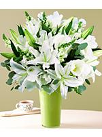 Premium Sympathy Bouquet with Free Vase