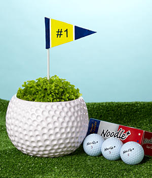 Deluxe Fore! Your Birthday with Golf Ball 3-pack