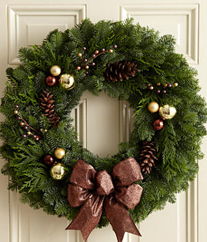 "House Plants - Bronze Collection - 22"" Wreath"