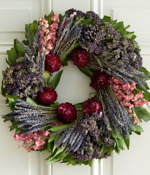 Herbal Sentiments Wreath with Keepsake Book - Preserved