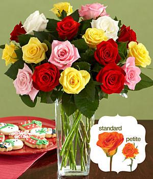 18 Assorted Petite Roses