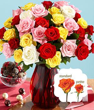 36 Assorted Petite Roses