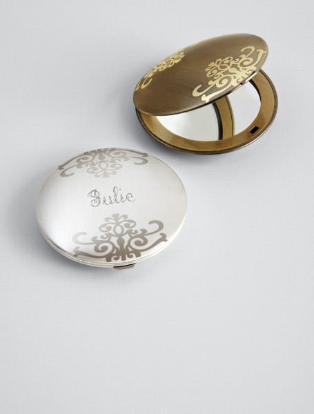 personalized embellished purse mirror