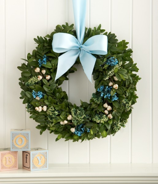 Bundle of Joy for Baby Boy Wreath