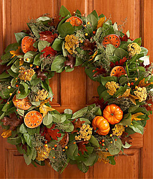"24"" Pumpkin Spice Wreath"