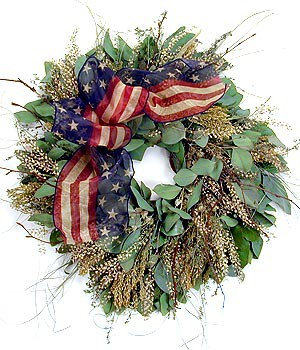 American Anthem Wreath - Preserved