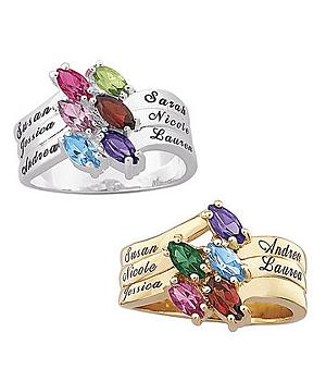 Marquise Birthstone Ring