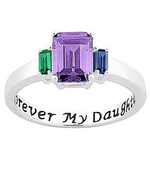 Sterling Forever My Daughter BS Ring